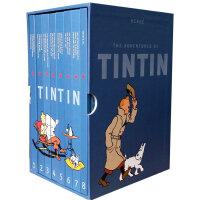 The Adventures of Tintin丁丁历险记全集(全8册)精装套装 丁丁的世界 世界的丁丁 比利时文学瑰宝 连环画经典巨作