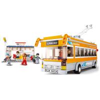 【当当自营】小鲁班模拟城市系列儿童益智拼装积木玩具 电车巴士M38-B0332