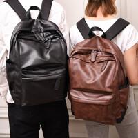 茉蒂菲莉 双肩包 韩版男士双肩包潮流复古PU皮男包休闲时尚旅游大容量背包