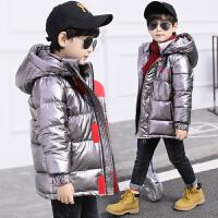 儿童冬装羽绒棉外套中长款冬季洋气加厚棉袄男童棉衣