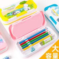 多功能文具盒男女儿童小学生用三层塑料铅笔盒1-3-5年级韩版创意卡通大容量可爱高初中生学习文具收纳盒笔袋