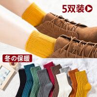 袜子女中筒袜韩版学院风纯棉堆堆袜 韩国百搭春秋薄黑色长袜