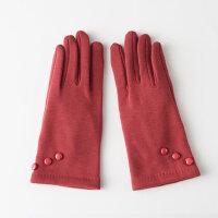保暖骑车手套女秋冬加厚时尚修手款女士触屏开车手套 防滑