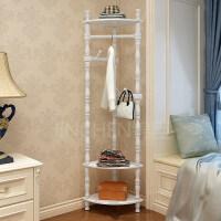 实木衣帽架转角落地卧室墙角置物架现代简约欧式挂衣架客厅