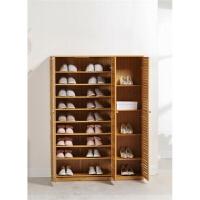 楠竹鞋柜欧式对开门简易鞋架3门2门实木玄关柜鞋架百页门鞋柜 组装