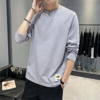 【已质检】男士潮流印花青年新品宽松纯棉长袖T恤 DS450TUD30
