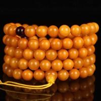 蜜蜡满蜡108颗佛珠手链 直径7.5mm