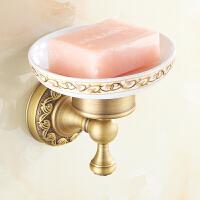 全铜欧式仿古皂碟 肥皂香皂碟 皂盒 皂架 中式印花纯铜卫浴五金