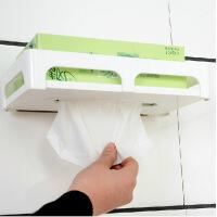 双庆5051 强力吸盘长方形厕所纸巾盒塑料 挂纸巾盒 卫生间纸巾盒