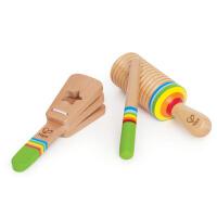 Hape早旋律音乐组合12个月以上音乐玩具3件套益智培养乐感玩具婴幼玩具