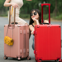 铝框拉杆箱万向轮24寸行李箱女皮箱旅行箱26寸复古男密码登机箱20SN5238