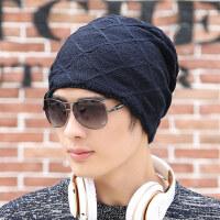户外针织帽秋冬季保暖套头帽男士毛线帽子时尚潮流街头包头帽