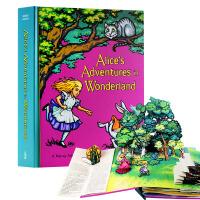 爱丽丝漫游仙境立体书 爱丽丝梦游仙境 英文原版 英文绘本 Alice in Wonderland Pop-up 儿童节