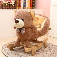 儿童早教毛绒玩具礼物大象实木摇马宝宝摇摇木马婴儿摇椅 60*38*50