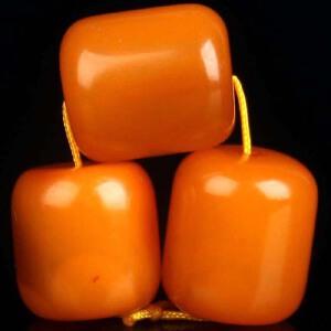 蜜蜡满蜡桶珠配珠套装2.57g