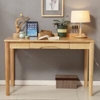 实木书桌中小学生电脑桌台式写字桌简约家用卧室书房办公桌子新品