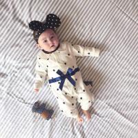 婴儿连体衣服春季哈衣0岁5月宝宝春新生儿外出服新年