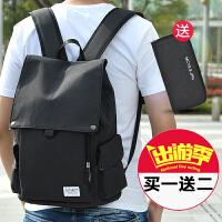 男士休闲双肩包韩版帆布旅行背包简约电脑男包时尚潮流大学生书包SN0999