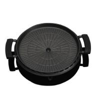 户外运动卡式炉烤肉盘 圆形卡式炉烧烤盘 便携麦饭石烧烤盘