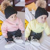 婴儿宝宝加厚卫衣套头2017新款秋冬装女童儿童保暖上衣男童卫衣