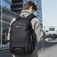 休闲大容量登山电脑书包 韩版男士旅行包背包男双肩包 户外轻便旅游多功能背包