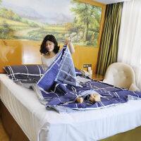 双人便携式薄旅游纯棉旅行酒店隔脏睡袋 出差宾馆双人成人室内防脏床单