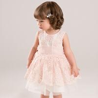 davebella戴维贝拉女童夏季新款连衣裙 绣花公主裙背心裙薄DB5657