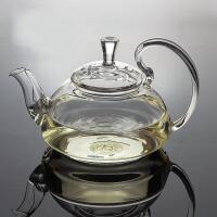 650ML耐热玻璃壶 高把压盖花壶花茶壶功夫红茶具泡茶杯冲茶器