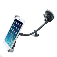 车载手机支架大吸盘式汽车用加长杆款苹果华为i平板通用