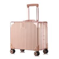 复古18寸拉杆箱万向轮小型行李箱包潮流旅行箱子20男女登机箱横款