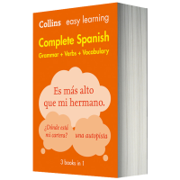 英西双语字典词典 柯林斯轻松学西班牙语 英文原版 Collins Easy Learning Spanish Dict