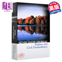 【中商原版】柯林斯经典:瓦尔登湖 英文原版 Collins Classics:Walden and Civil Disobedience 梭罗 Henry David Thoreau