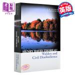 【中商原版】柯林斯经典:瓦尔登湖 英文原版 Collins Classics:Walden and Civil Diso