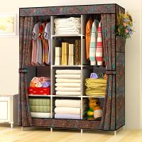 简易衣柜钢架布衣柜收纳组装双人大号衣橱出租房简约现代经济型