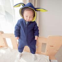 婴儿连体衣秋装婴儿衣服卡通哈衣爬服宝宝秋冬装婴幼儿秋季外出服