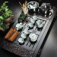 尚帝 高档黑檀木茶盘茶具套装 整套功夫陶瓷茶具套装 带电磁炉2014WHTZ44