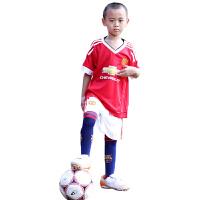 儿童足球服T恤红色军团小猪5号罗霍8号马塔短袖儿童球衣训练服 英超曼联主场红白