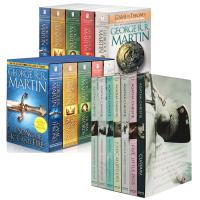 冰与火之歌 英文原版A Song of Ice and Fire1-5全集美版盒装&Hercule Poirot: Boxed Set阿加莎侦探系列 7本套装