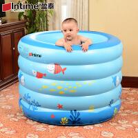 盈泰婴儿游泳池圆形充气加厚海绵底保*幼儿戏水池大型洗澡桶