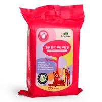 英国品牌小树苗 屁屁*婴儿柔湿巾 25片装正品宝宝湿巾