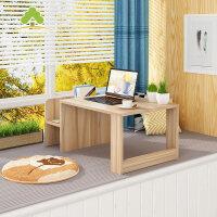现代简约飘窗桌榻榻米桌子创意阳台茶几收纳书架矮桌子窗台小方桌
