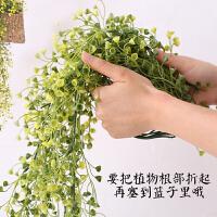 田园创意草编花篮仿真植物挂饰室内壁挂墙面墙上