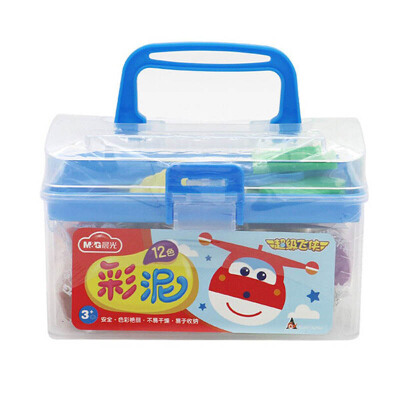 M&G晨光JKE0441412色橡皮泥彩泥超级飞侠手工泥带模具随机款(1盒)当当自营