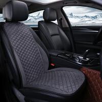 汽车加热坐垫冬季保暖单座通用12V24V改装毛绒车载座椅电加热座垫