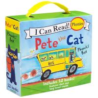 英文原版绘本 Pete the Cat Phonics Box I Can Read phonics 皮特猫自然拼读系