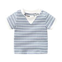 婴儿短袖上衣半袖T恤夏男童宝宝0-1岁女0-6个月夏装婴儿衣服