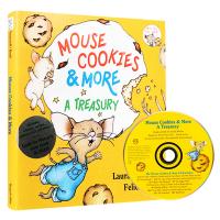 英文原版绘本 If You Give a Mouse Cookies & More 老鼠饼干故事4册合集 原版CD 廖