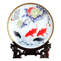 创意家居装饰博古架摆设酒柜花瓶装饰盘子陶瓷器摆件景德镇工艺品