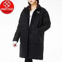 幸运叶子 PUMA/彪马棉衣女款冬季新款运动服时尚长款保暖外套585092-01