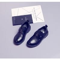 男童皮鞋春秋黑色演出鞋中大童学生鞋英伦风休闲鞋表演鞋